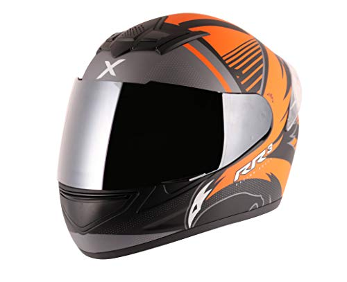 Axor Rage RR3 Dull Black Orange Helmet-L