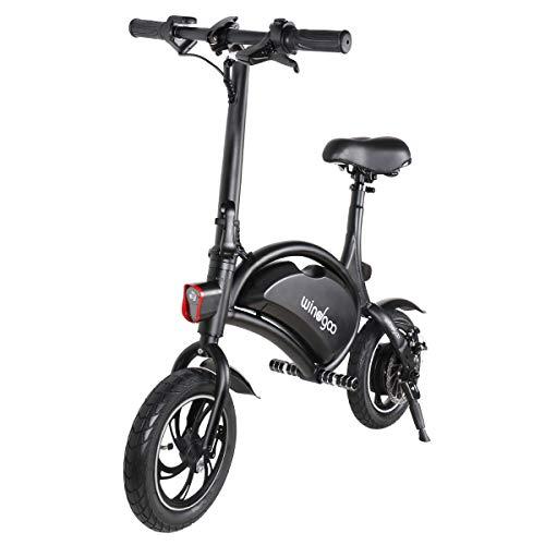 Windgoo Vélo Électrique Pliant, Jusqu'à 25km/h, Vitesse Réglable 12 Pouces Noir Bike, 350W/36V Batterie Lithium Rechargeable,...