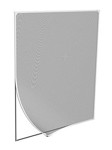 Windhager Insektenschutz Magnetfenster Magnet Rahmen für Fenster Fliegengitter Mückengitter, werkzeugfreie Montage, Weiß, 120 x 120 cm, 03897