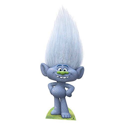 Star Cut Outs con Purpurina Gris Troll Guy Diamond, Multicolor
