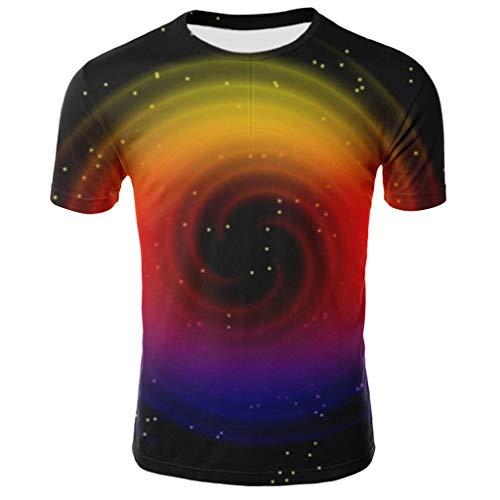 Preisvergleich Produktbild UINGKID Herren T-Shirts 3D Printing Lässige Slim Kurzarm mit Aufdruck