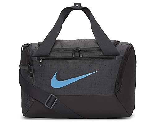 Nike Brasilia Slub Borse Sportive, Grigio Fumo/Nero/Crema, taglia unica Unisex-Adulto