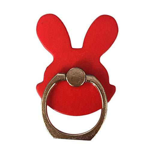 rongweiwang Conejo de Conejito Soporte del teléfono Timbre del teléfono Grip Tabletas Mano Pata de Cabra aleación de Aluminio de 360 Rotación del Anillo de teléfono Holder