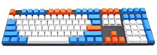 Tapas de teclado Los nombres de teclas tema de PBT 108 teclas, tres colores mezclan perfil for conmutadores del teclado mecánico tapas de teclado mecánico ( Color : 108 Key )