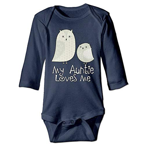 FAVIBES Großtante liebt Mich Eule Unisex Neugeborenes 100% Baumwolle Langarm Body Kleidung Outfits Asche Größe 6M