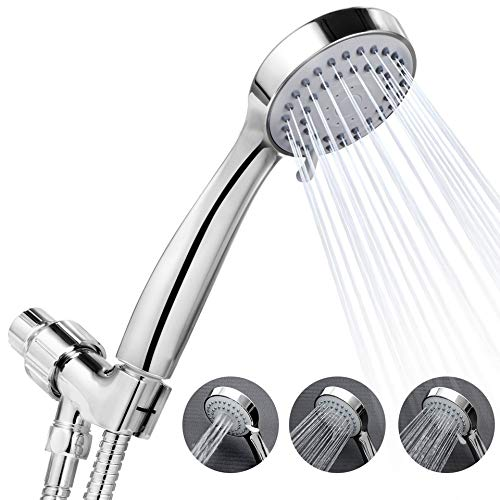 HSDMHH Shower XHigh Pressure 3-Setting Handheld Shower Head Wall Type Best for Massage Rainfall Spa Easy Installation Bathroom Shower Sprayer