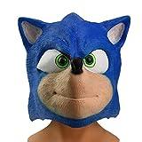 tytlmask Halloween Dessins Animés Masque Animal, Sonic Le Hérisson Cosplay Fête Masque Latex, Casque Mascarade Halloween Masques Animaux Décoration