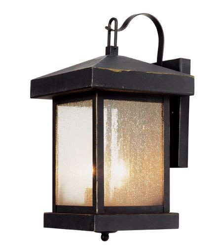 Trans Globe Lighting 45641 Asian Two Light Down Lighting Outdoor Square Wall Sconce From