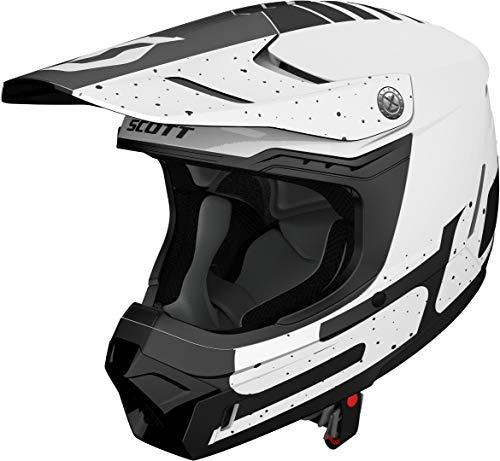 mächtig der welt Scott 350 Evo Team MX Enduro Motorrad- / Fahrradhelm Weiß / Schwarz 2019: Größe: L (59-60 cm)