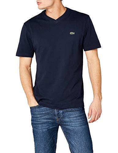 Lacoste Sport Th7419 Camiseta, Azul (Marine), Medium (Talla del Fabricante: 4) para Hombre