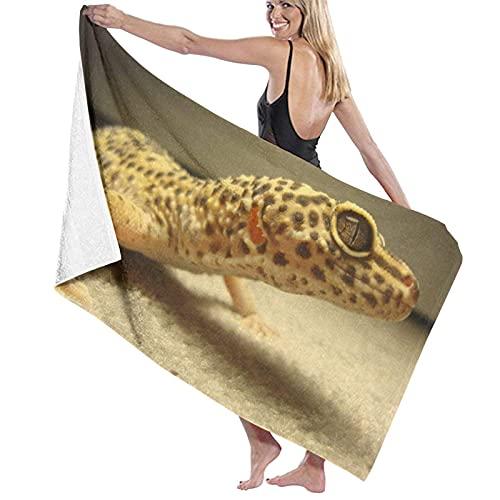 Toallas de baño Grandes,Gecko Leopardo de Arena,Toallas de Playa suavidad Toallas de multipropósito,80 x 130cm