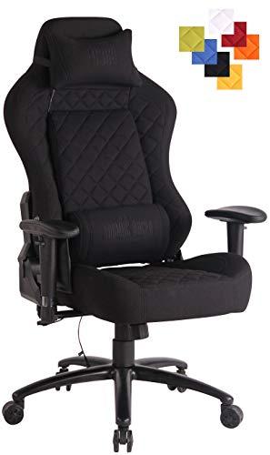 CLP Bürostuhl Rapid XM Mit Stoffbezug Und Massagefunktion I Schreibtischstuhl Mit Verstellbaren Armlehnen Und Beheizbarem Sitzbereich schwarz/schwarz