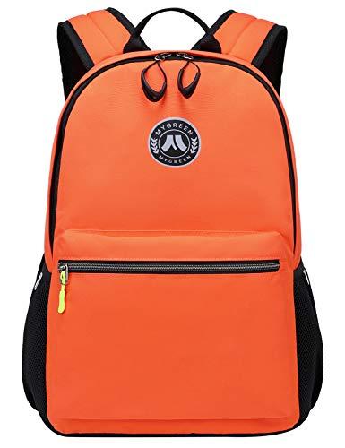 Mygreen Girls Backpack School Bags for Girls Waterproof College Rucksack Fashion Casual Daypack Women Bookbag Boys Schoolbag Teenagers Durable Unisex Student Backpacks Orange