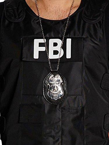 Kette Polizeimarke (silber)