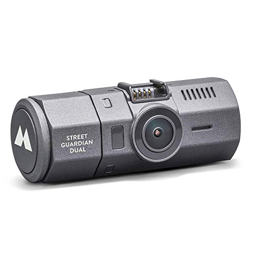 Midland Street Guardian Dual Telecamera, Doppia Video Camera da Auto con Cycle Recording, Grandangolo 160° out + 120° in, Black Box, Cavo Presa Accendisigari e Cavo USB