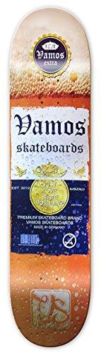 Vamos Skateboards   Skateboard Deck   Vamos Extra Design   100% Canadian Hardrock Maple   met griptape   diverse maten