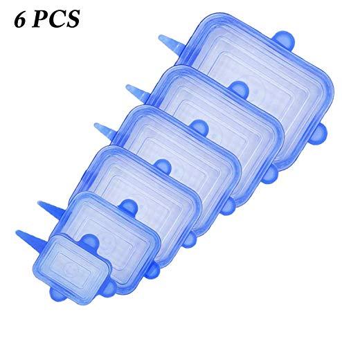 EWQK 6/12 unids Tapa de Estiramiento de Silicona Tapa Reutilizable Flexibles Cubiertas de Alimentos Tapa de Arco Caps Wrap Seal Fresh Mantenimiento de Utensilios de Cocina Accesorios