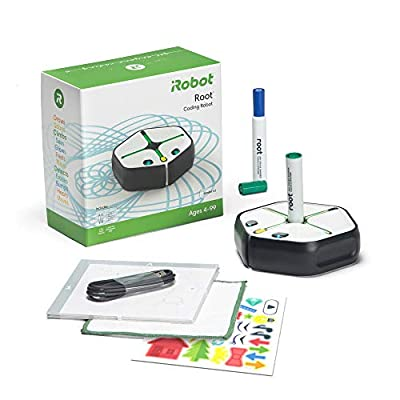 Root rt1 iRobot Coding Robot: Programmable STEM/STEAM Toy That Grows with You, Creative Play Through Art, Music, and Code, Voice-Activated, Bluetooth Connection, App-Enabled (Android, iOS Compatible)