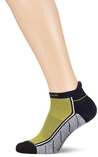 Hudson PLAY Herren-Socken, Funktionssocken für Tennis, Fussball und Co., Sportsocken mit Komfortb& (atmungsaktiv, gelb), Menge: 1 Paar