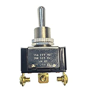 Gardner Bender GSW-117 Heavy-Duty Electrical Toggle Switch, SPDT, Mom ON-OFF-Mom-ON, 20 A/125V AC, Screw Terminal (B000HEKULI) | Amazon price tracker / tracking, Amazon price history charts, Amazon price watches, Amazon price drop alerts