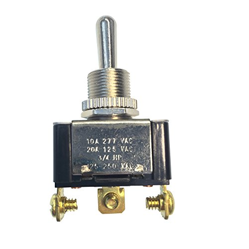 Gardner Bender GSW-117 Heavy-Duty Electrical Toggle Switch, SPDT, Mom ON-OFF-Mom-ON, 20 A/125V AC, Screw Terminal