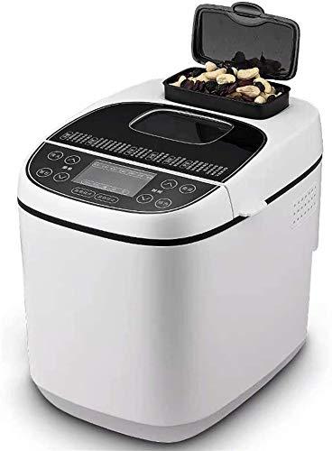 Sooiy Automatische Brotmaschine Glutenfreie Menü Brot-Maschine 2LB, 12 Preset Funktionen FastBake Brotbackmaschine Anfänger freundlich Bäckerei Brot-Maschine 2LB, 550W, Weiss