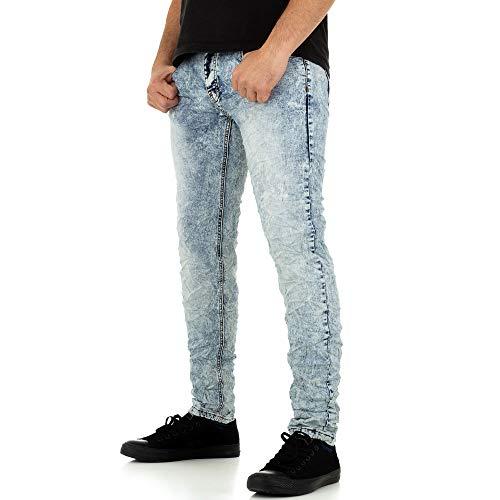 Ital Design Used Look Slim FIT Jeans Justing Denim Gr. 31 Hellblau