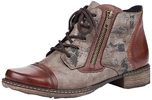 Remonte Damen Stiefeletten, Frauen Schnürstiefelette, halb-Stiefel schnür-Bootie übergangsschuh,Braun(Brasil),40 EU / 6.5 UK