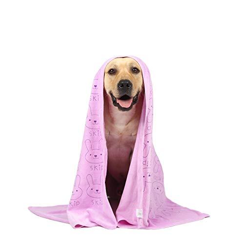 Looluuloo - Toalla de baño para perro, toalla de microfibra para perro, toalla absorbente para perros pequeños y medianos, toalla de playa (púrpura)