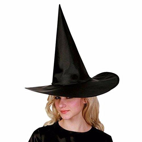 OverDose Damen 6Pcs Happy Halloween Adult Damen schwarz Hexe Hut für Halloween Kostüm Zubehör Cosplay Party Clubbing Dance Rave Kleidung