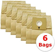 Vacurama Bissell Zing Vacuum Bags 4122 - Compatible Replacement Bags for Zing and PowerForce Canister Models 4122, 4122D, 1668, 1668C, 1668W, 2154A, 2154C, 2154W, 1608 - Bag Type 213-8425 (6 Pack)