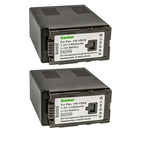 Kastar Battery (2-Pack) Replacement for Panasonic VW-VBG6 and Panasonic TM300, TM350, TM650, TM700, TM750, NV-GS90, GS98, PV-GS90, GS320, GS500, SDR-H48, H50, H68, H80, H90, H258, VDR-D50, D58, D310
