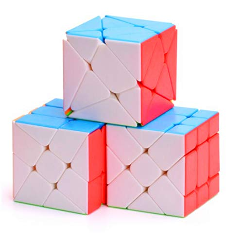 CuberSpeed Speedcubing Bundle Fisher Cube & Axis Cube & Windmill Cube stickerless Speed Cube