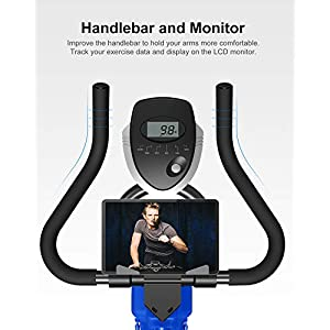 BARWING Exercise Bike Stationary Workout Bike with Magnetic Resistance with Advanced Handlebar Adjustable Indoor Cycling Bike for Home Use Blue