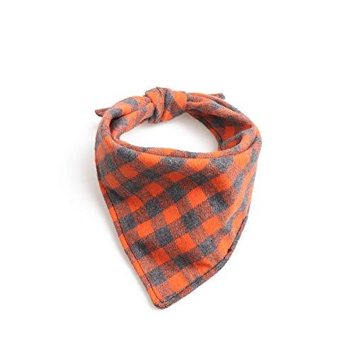 Hondenhalsband, oranje speeksel driehoekige sjaal Britse stijl dubbellaags Gentleman zachte veilige hond halsband voor alle seizoenen ademende gewatteerde gezellige lichte outdoor wandelen E, S 34*34*50