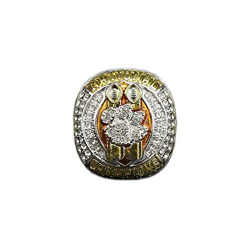 2018 Clemson University Tigers NCAA Football Championship Ring Meisterschaft Ringe, Champion Ring Replica für Fans Herren Geschenkideen,with Box,14#