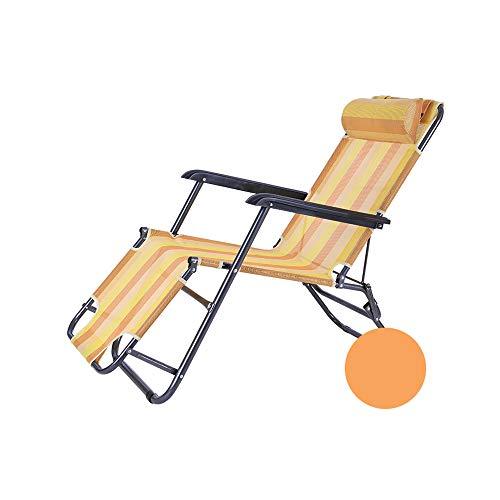YQQ Chaise Longue Chaise Pliante Fauteuil De Repos Chaise De Plage Chaise De Pause Déjeuner Bureau 178 * 60 * 98CM