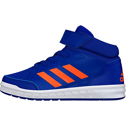 adidas Unisex-Kinder AltaSport Mid K Laufschuhe, Blau Collegiate Royal Solar Orange Cloud White, 35 EU