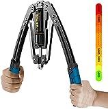 Peralng Double Spring Armtrainer Power Twister, Biegehantel Fitnessgeräte Gymnastikstange Einstellbarer Hydraulikdruck 10-200KG Armmuskeltrainingsgerät für Arm, Brust, Unterarm Krafttraining
