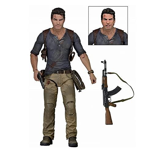 ZEwe Uncharted 4 Ultimate Nathan Drake 7 Pulgadas CLORURO DE POLIVINILO Figura de acción CLORURO DE POLIVINILO