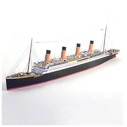 Lllunimon 1/400 Britisches Titanic Cruise Ship Paper Modell Set, 3D Puzzle Bootsmodell Handgemachte DIY Militärfan Geschenk für Erwachsene