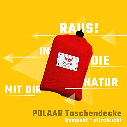 polaar Picknickdecke, Outdoor- und Wanderdecke, Ultraleicht, Wasserdicht, für bis zu 4 Personen, mit Heringen - Ideal für den Park, Reise und Camping