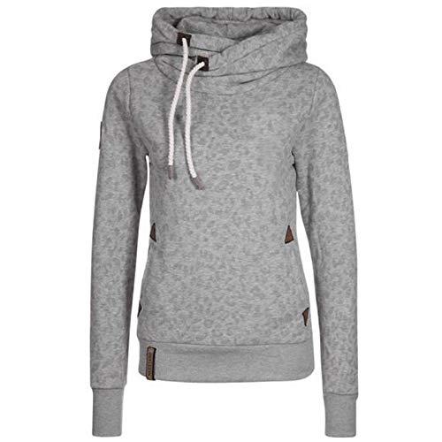N\P Sudadera de invierno con capucha para mujer gris XL