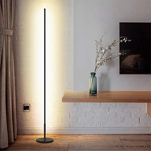 WRQ Moderna LED Lámpara Pie RGB Regulable, Lámpara Pie Esquina Nórdica Minimalista con Control Remoto Regulable para Salón, Dormitorio Y Oficina Decoración 20W