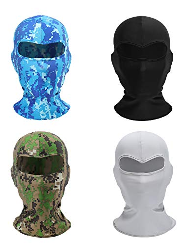 Chruikar 4 PCS Balaclava Tactical Fishing Face Mask Shield Neck Gaiter Washable Bandana UV Protection Scarf Cycling