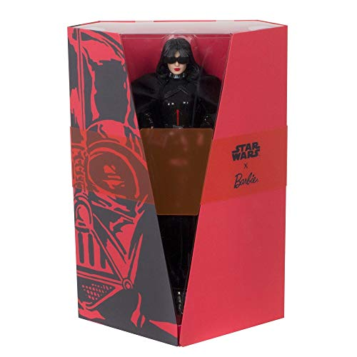Barbie Collector: Star Wars Darth Vader X Barbie Doll, 11.5-Inch Wearing Black Peplum Top, Cape and Skirt, with Doll Stand and Certificate of Authenticity