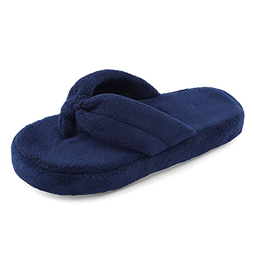 MK MATT KEELY Hausschuhe Damen Plüsch Winter Warm Flip Flops Indoor Home Leicht Slippers rutschfeste Bequem Flache Slippers