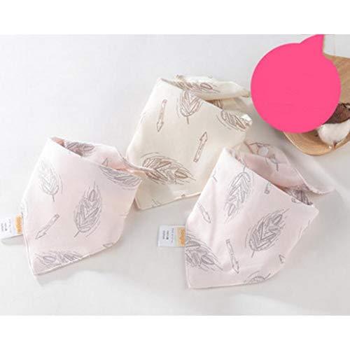 Sccarlettly Living Home Baby Triangle Serviette Bavoir Chic Casual Coton Salive Tissu Double Quatre Saisons 3 Pcs Ensemble (Couleur Bleu) (Color : Pink, Size : Size)