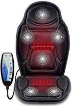 Snailax Massage Seat Cushion - Back Massager with Heat, 6 Vibration Massage Nodes & 2 Heat Levels, Massage Chair Pad for Home Office Chair