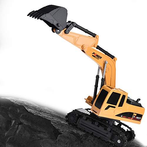 RC Auto kaufen Baufahrzeug Bild 6: Dilwe Fernbedienung Bagger, 6 Kanäle Bagger LKW 1/24 RC Engineering Baufahrzeug Spielzeug Geschenk für Kinder ( Kunststoff)*